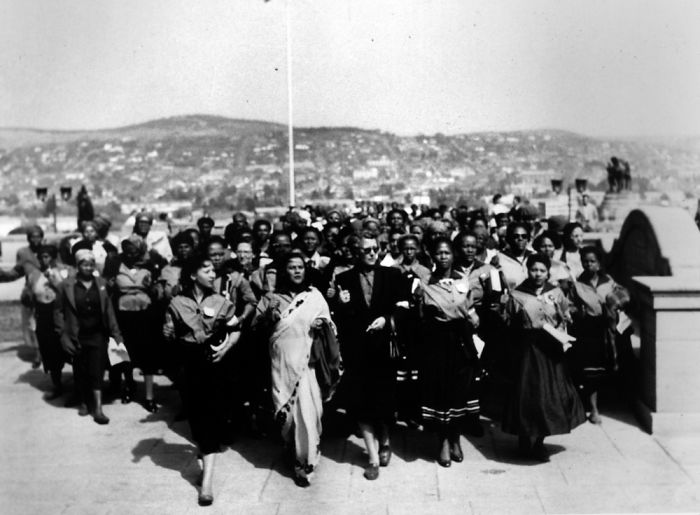 """In 1956 20,000 Women Marched To The Union Buildings In South Africa To Protest The Pass Laws Under The Apartheid Government . """"wathint' Abafazi, Wathint' Imbokodo: You Strike A Woman You Strike A Rock""""."""