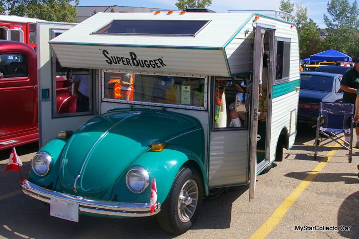 Rare 1970s Volkswagen Beetles Converted Into Mobile Homes