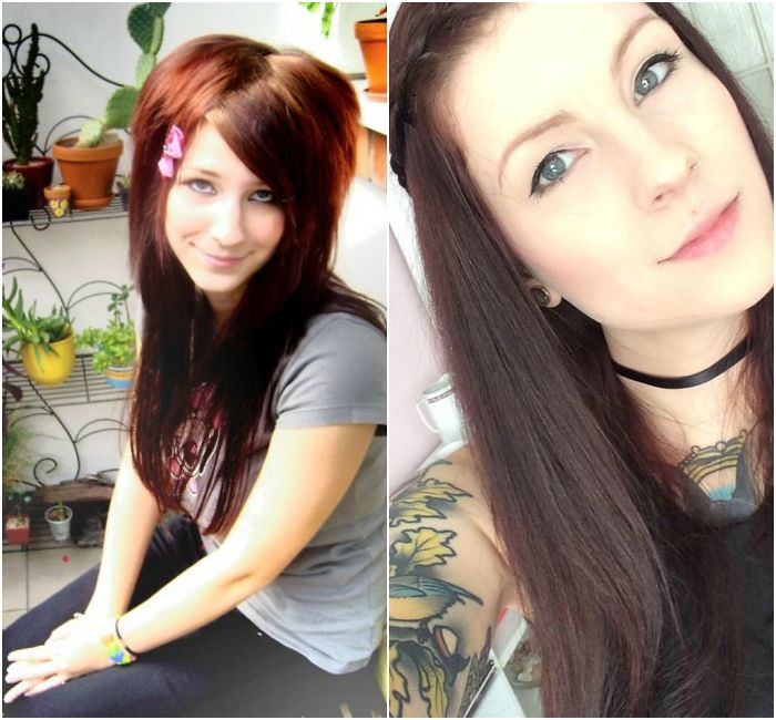 There Is Definitely No Before And After For Me, Except I Don't Tease My Hair That Much Anymore. 16 And 27 Year Old Me.