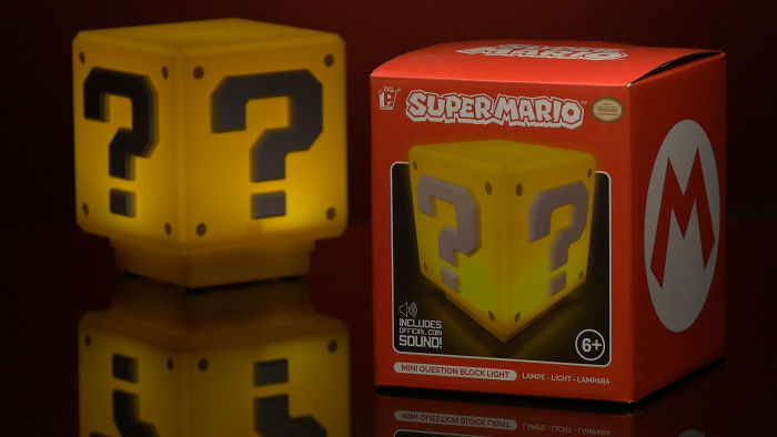 1-Up Your Game With The Super Mario Question Block Light