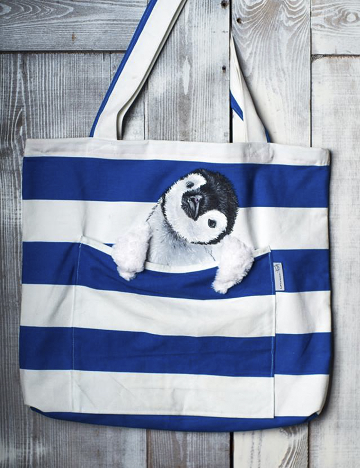 Forever Together! Hand Painted Shoulder Bags With Animals In A Pocket