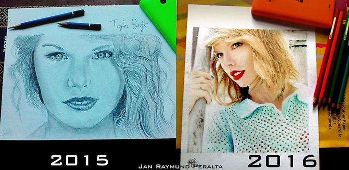 1 Year Practice Taylor Swift By Jan Raymund G. Peralta