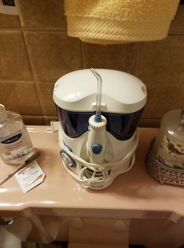 My Mom's Water Pick Or A Stormtrooper Helmet? You Decide
