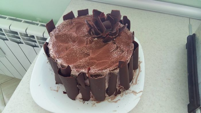 Chocolate Rose Cake My Sister Made For My Father`s Birthday