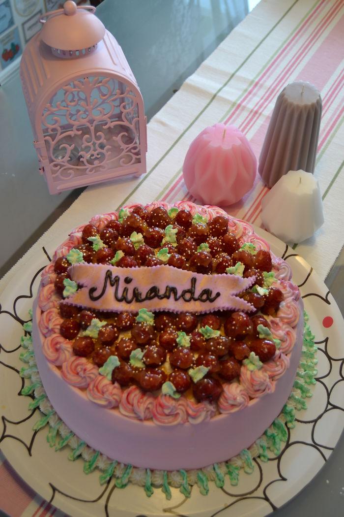 A Christening Cake I Made For A Little Girl Named Miranda