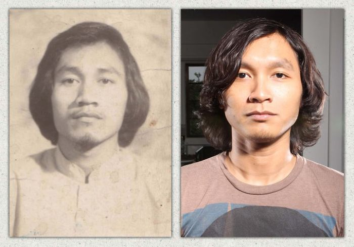 My Father On The Left (1979) & Me On The Right (2009)