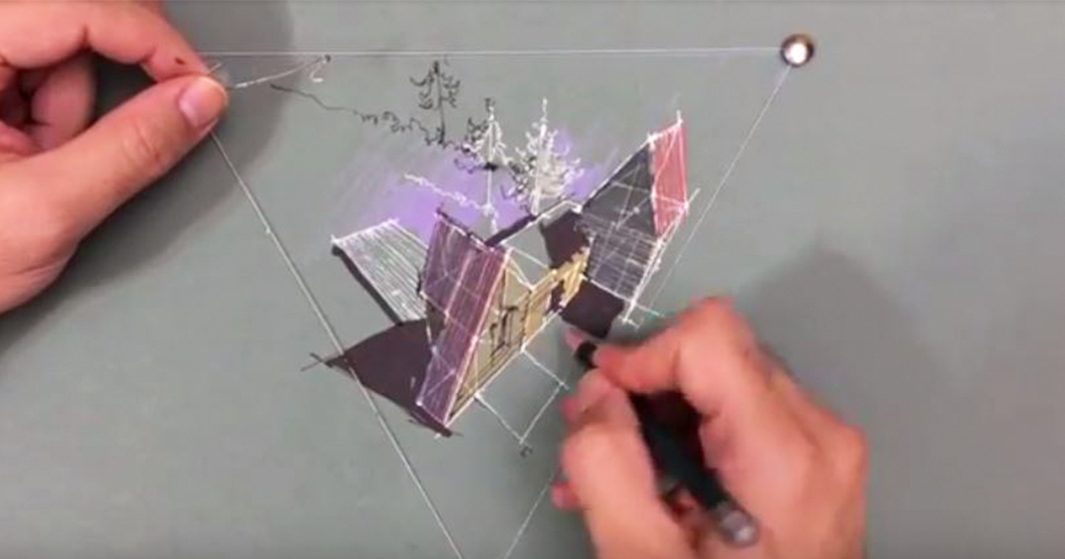 3-Point Perspective Drawing Trick