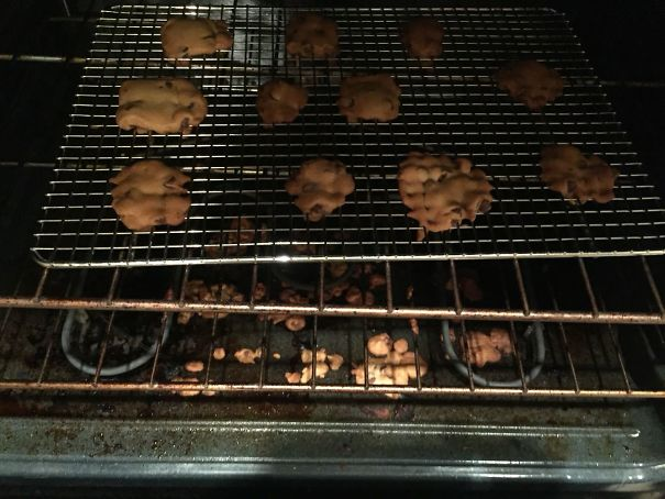 My Hubby Tried To Bake Cookies Tonight. On A Cooling Rack