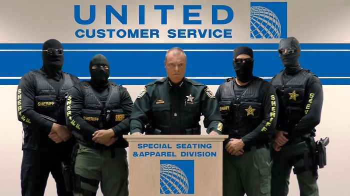 Meanwhile Over At United Costumer Service Desk