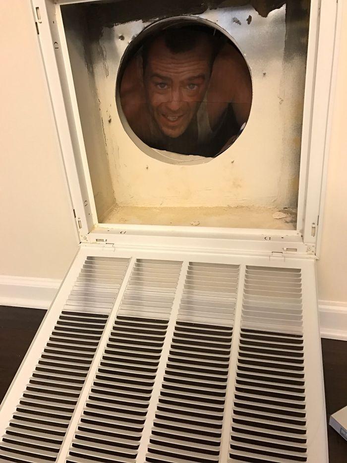 No sabía por qué se reía mi esposa cuando me pidió que cambiara los filtros del aire