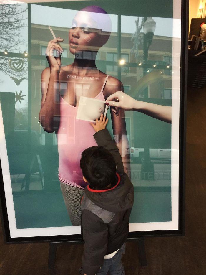 Llevé a mi hijo de 2 años y medio a una galería de arte