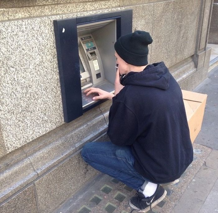 My Boyfriend Is Tall, But What Is Going On With London Cash Machines
