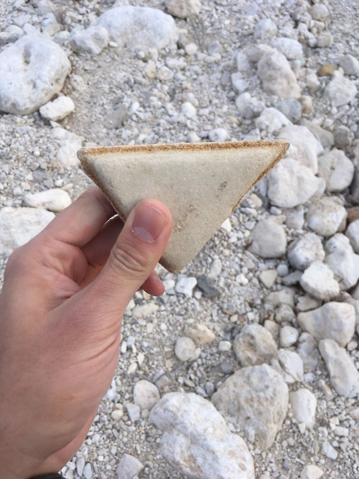 This Rock Looks Like A Grilled Cheese Sandwich
