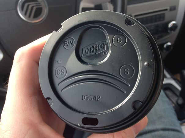 This Coffee Cup Lid Has A Space For Your Nose