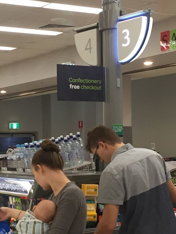 This Supermarket Has Confectionary Free Checkouts For Parents Unwilling To Have Children Demanding That They Buy Some