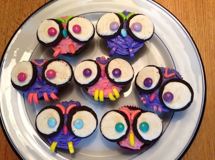 Owl Cupcakes For My 13th Birthday