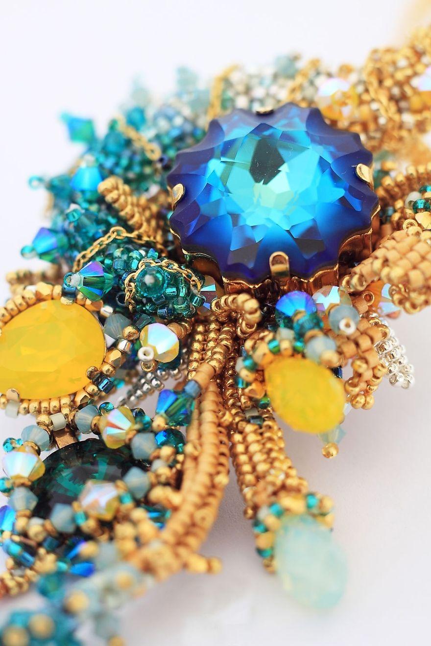 Gorgeous Seed Bead Webs: 12 Amazing Jewelries By Apollinariya Koprivnik