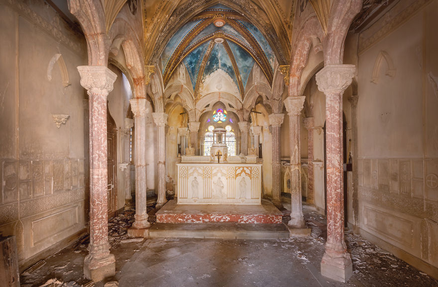 Chapel In France In A Cloister