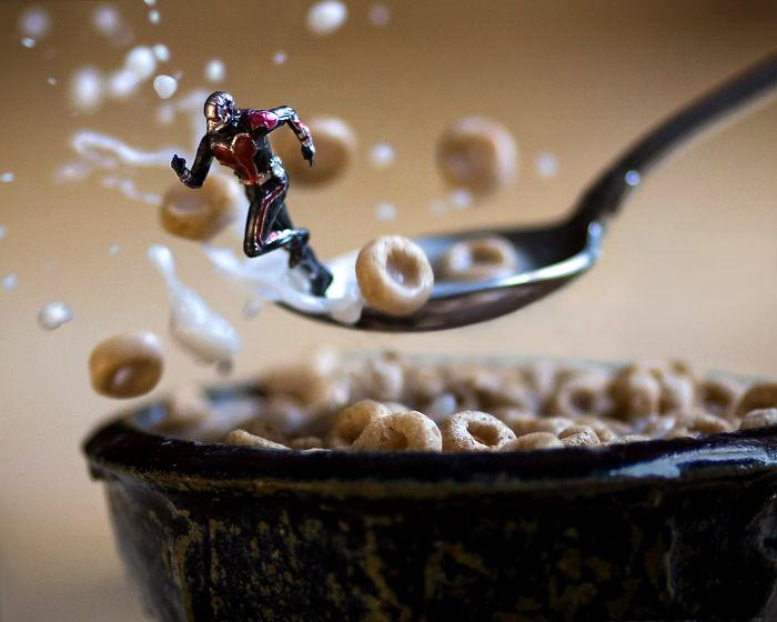 No me gusta cuando las hormigas entrar en mi desayuno!