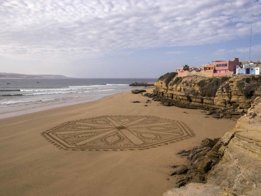 Arabic Inspired Beach Art In Marocco