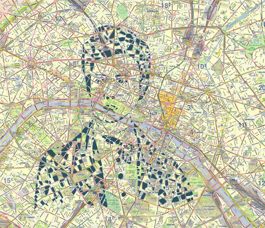Arthur Rimbaud / Paris / Paper Cut Map