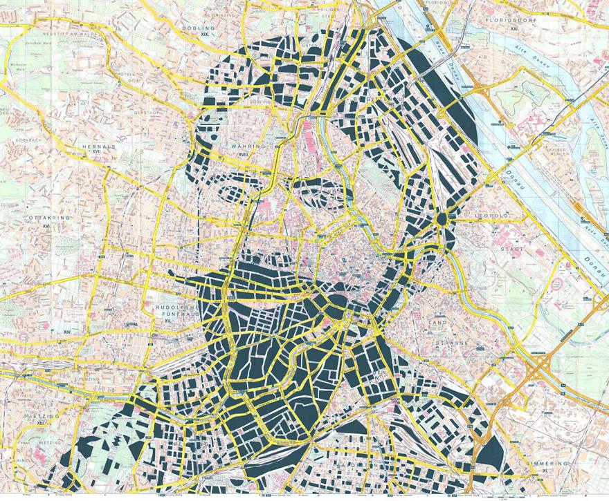 Arthur Schnitzler / Vienna / Paper Cut Map