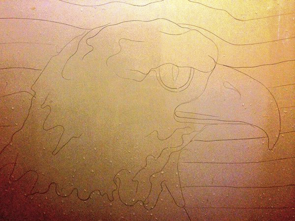 Artist Makes Drawings With Hair Falling In The Bath