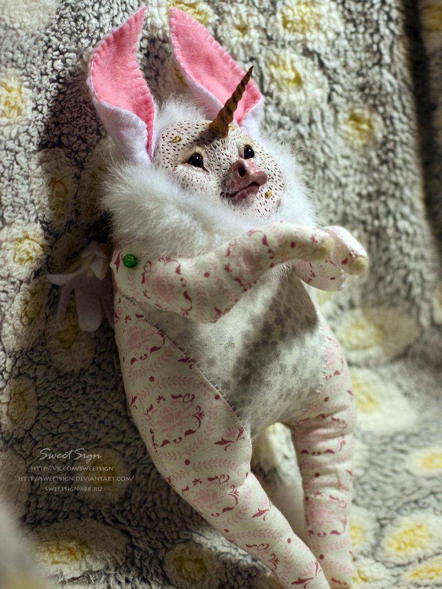 Axolotl Baby, Ooak Poseable Doll