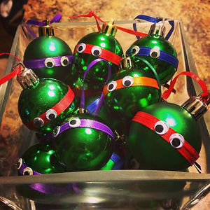 Tortugas ninja navideñas