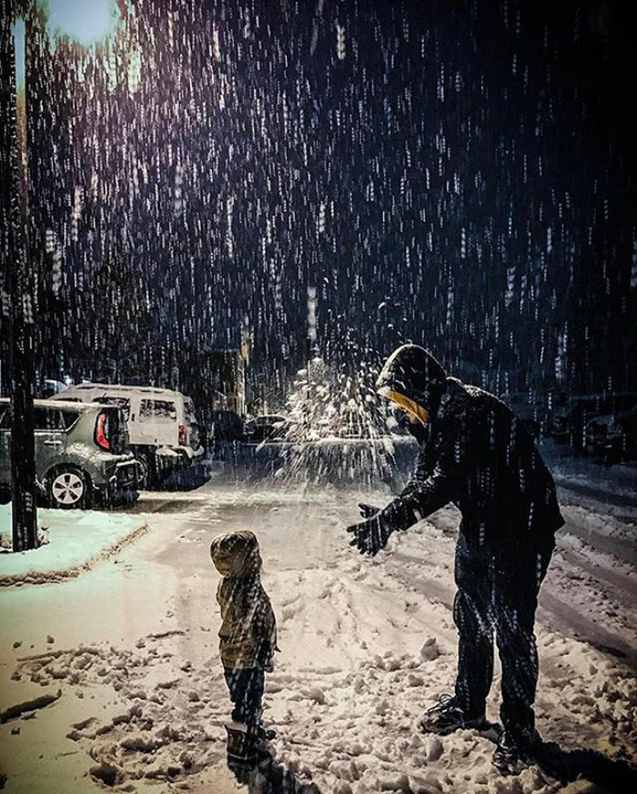 Everything Is Way More Magical When Dad Is Around. Especially Smashing Snowballs!