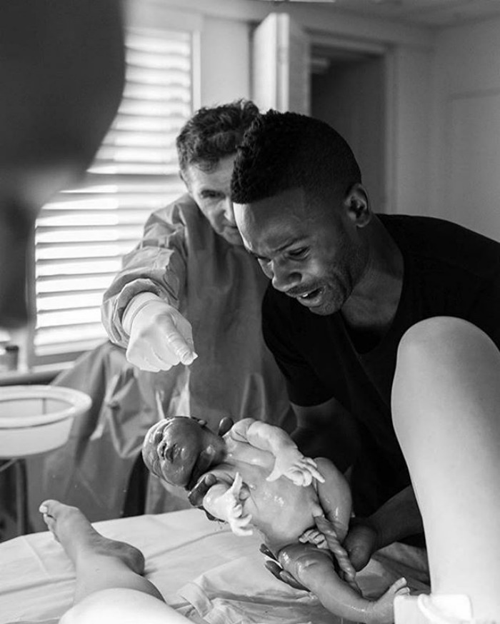 Just Wow. What A Moment For This New Dad, For Mom, And For The Doctor. This Is What Birth Without Fear Is All About. Options, Support, Respect