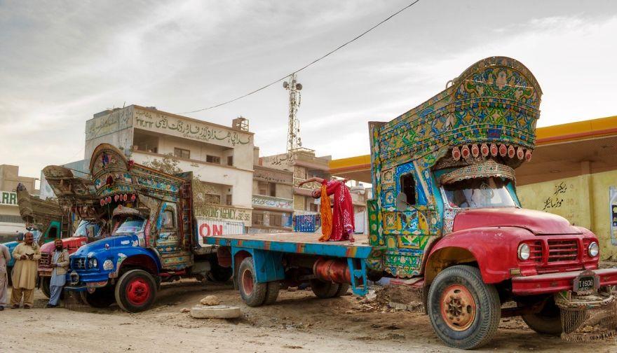 Karachi, Pakistan At The Truck Depot. Photo Credit: Kohi Marri