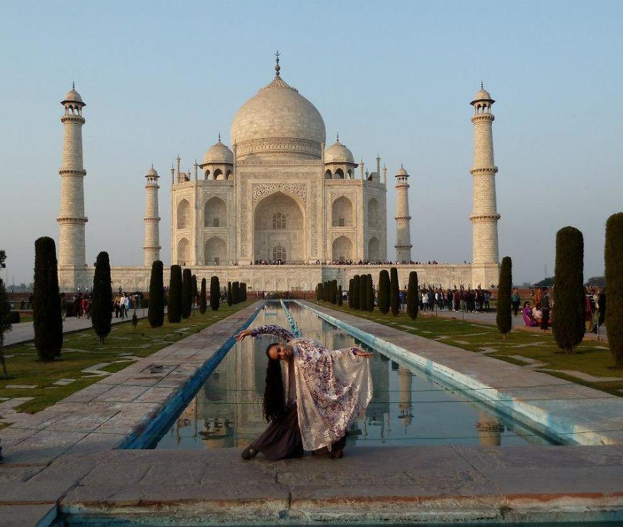 Agra, India At The Taj Mahal, A Rare Moment Without Crowds. Photo Credit Sophia Ali