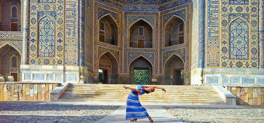 Samarkand, Uzbekistan In Registan Square. Photo Credit Unknown Tourist