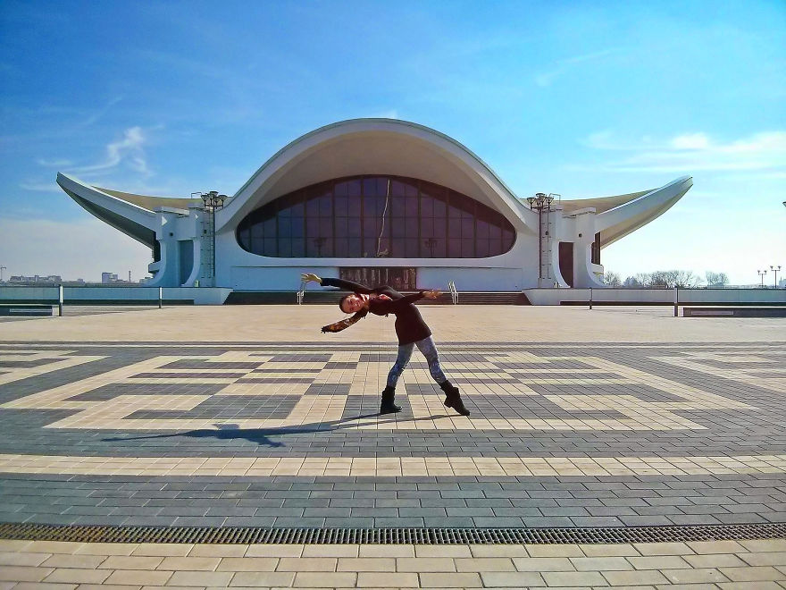 Minsk, Belarus. Belexpo Exhibition Center With Stalinist Architecture. Photo Credit Timothy Hastings