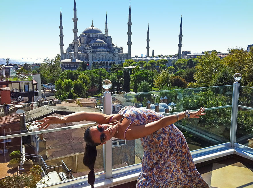 Istanbul, Turkey At The Blue Mosque. Photo Credit Waiter At Seven Hills Restaurant