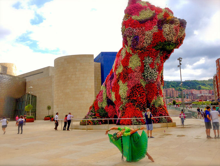 Bilbao, Spain At The Guggenheim Museum For A Cirque Publicity Shoot. Photo Credit Marisa Vest