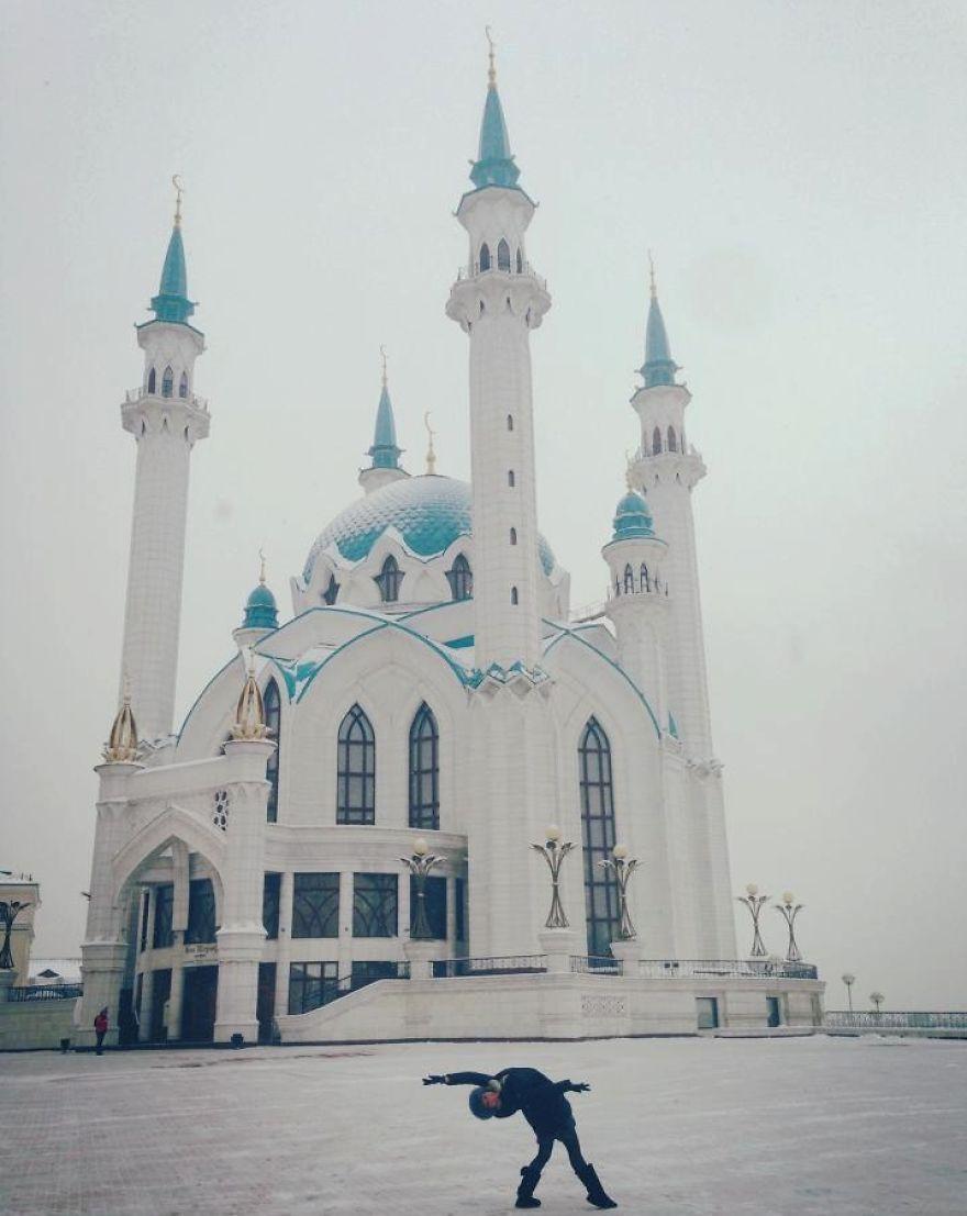 Kazan, Tataristan, Russia At Qolsharif Mosque. Photo Credit Ellen Pugliese
