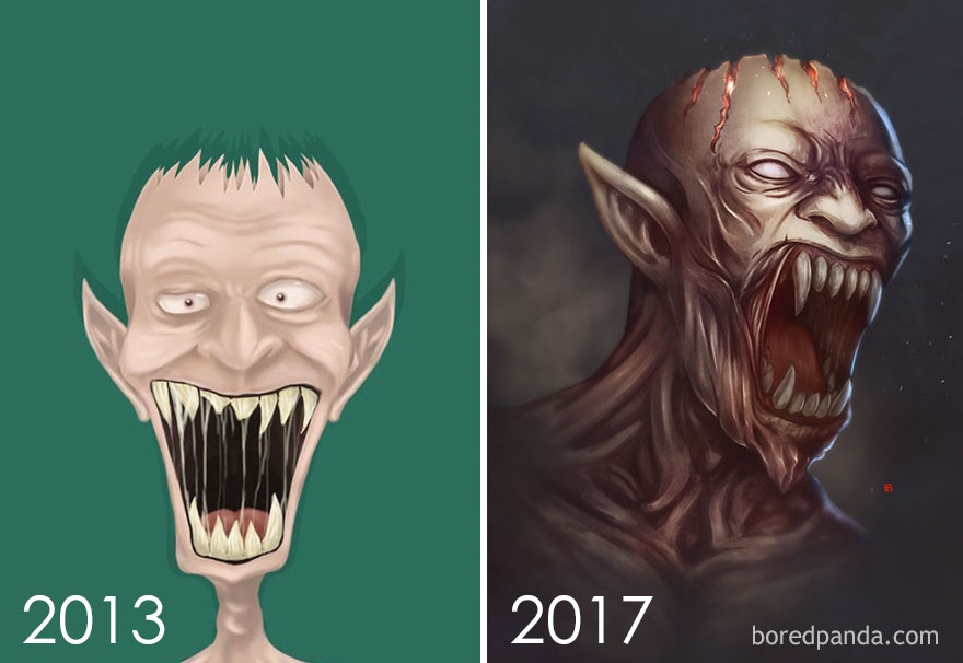 Redraw Of My First Monster By Rifal Jaelani