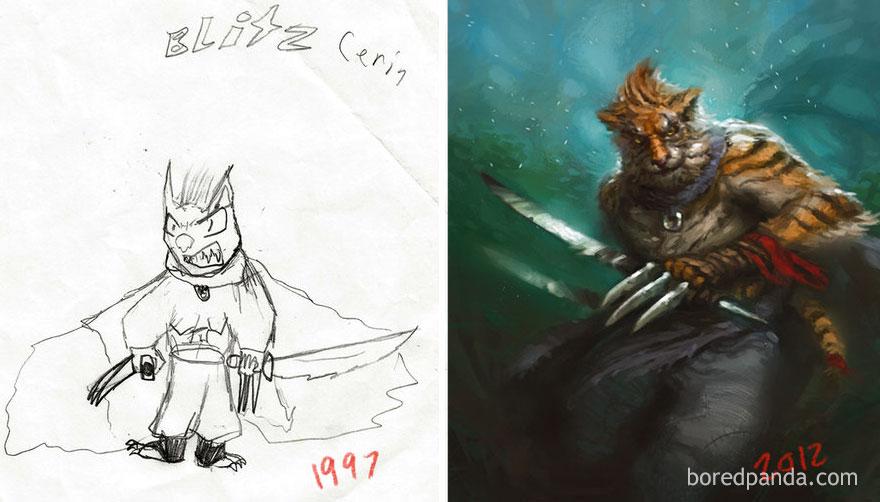 Progress Of Tiger By Dustin Walker