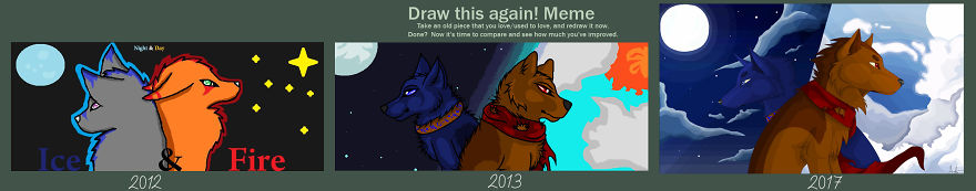 From 2012 To 2017 Only Using Ms Paint And Mouse. By Ashimi Okaru