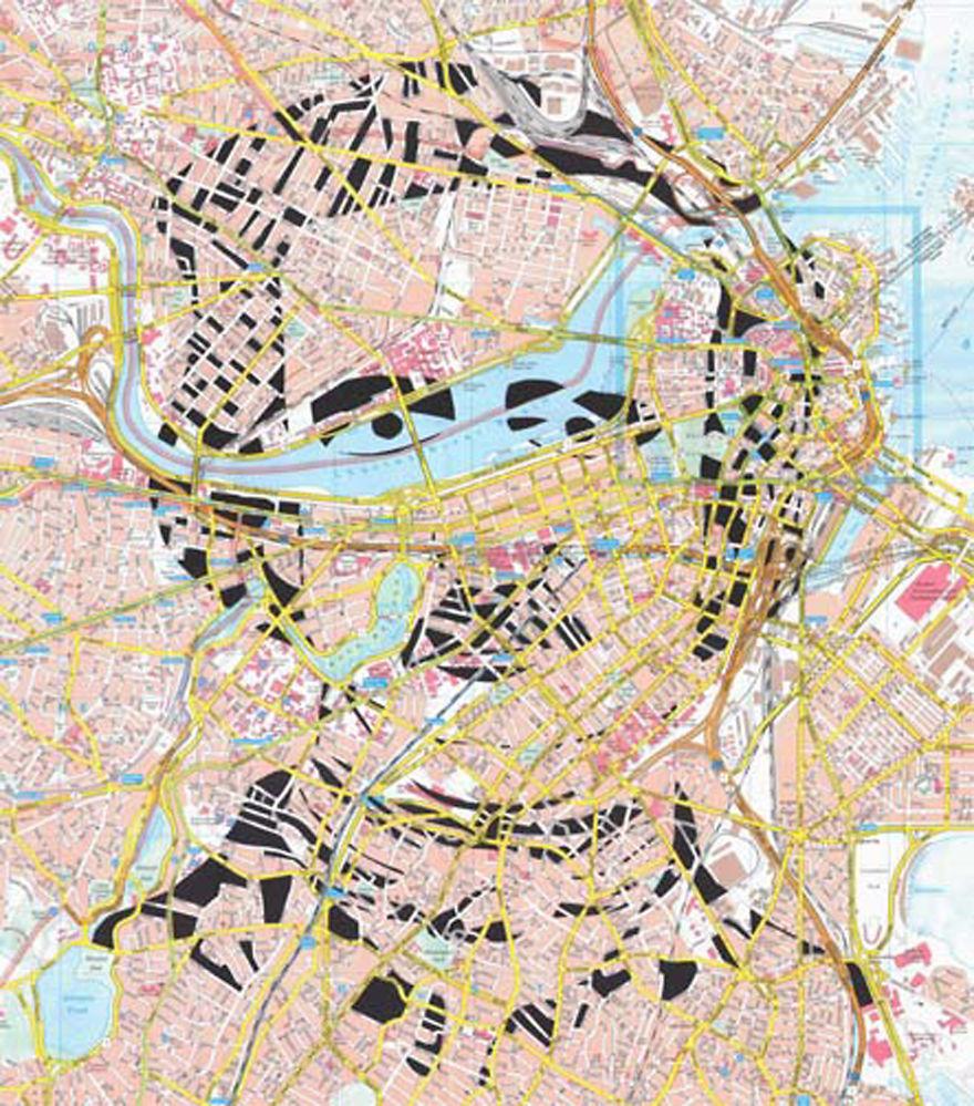 Edgar Allan Poe / Boston / Paper Cut Map