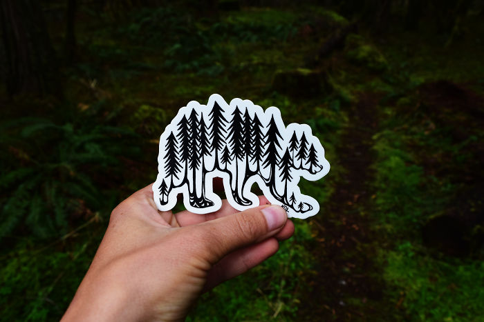 My Hand Drawn Wild Slice Nature Sticker Designs