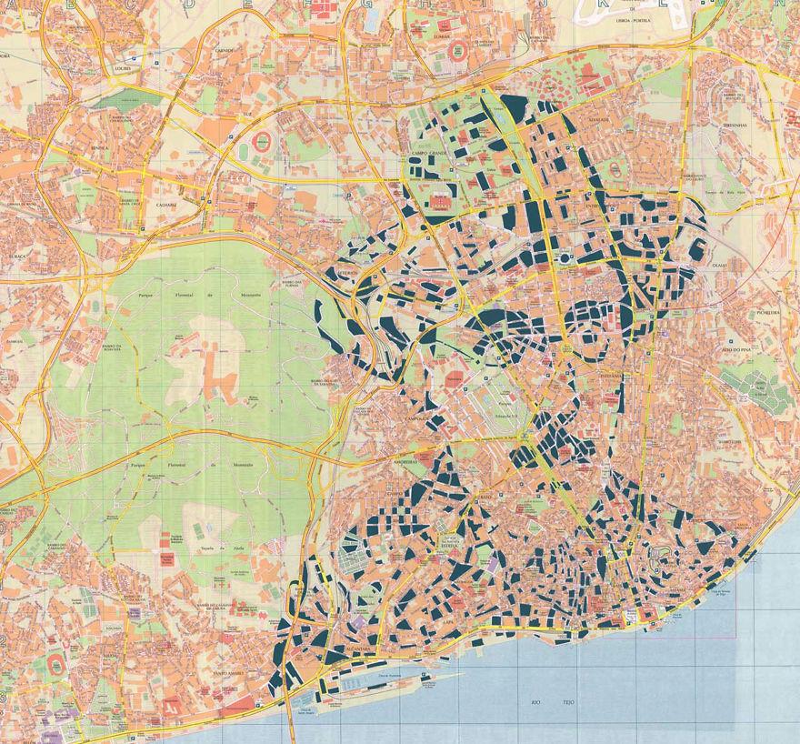 Fernando Pessoa / Lisbon / Paper Cut Map
