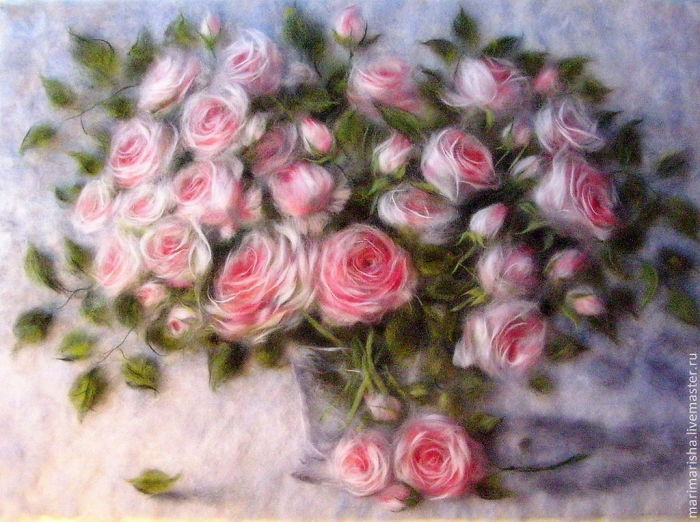 Fluffy Painting: Wool Watercolours By Marina Akserova