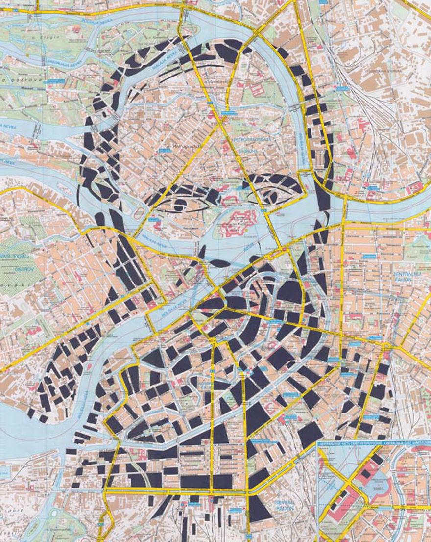 Fyodor Dostoevsky / St. Petersburg / Paper Cut Map