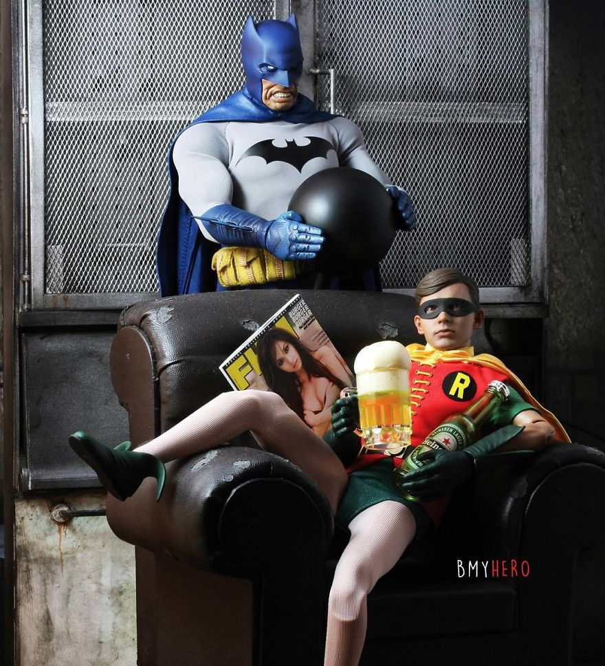 Hero Figures Can Be Found In Amusing Compositions