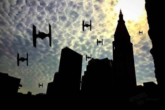 Tie Fighters Over Manhattan
