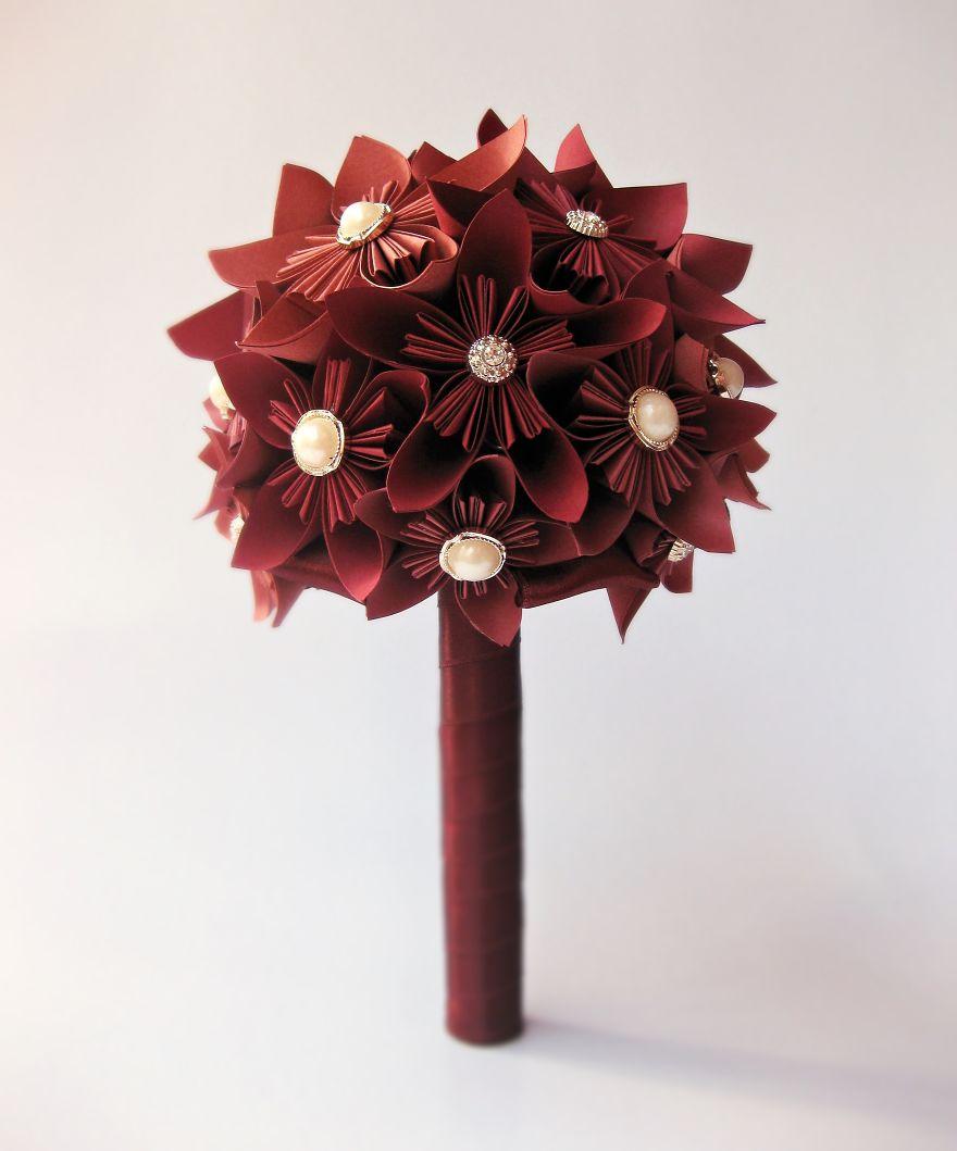 Marsala Paper Bouquet