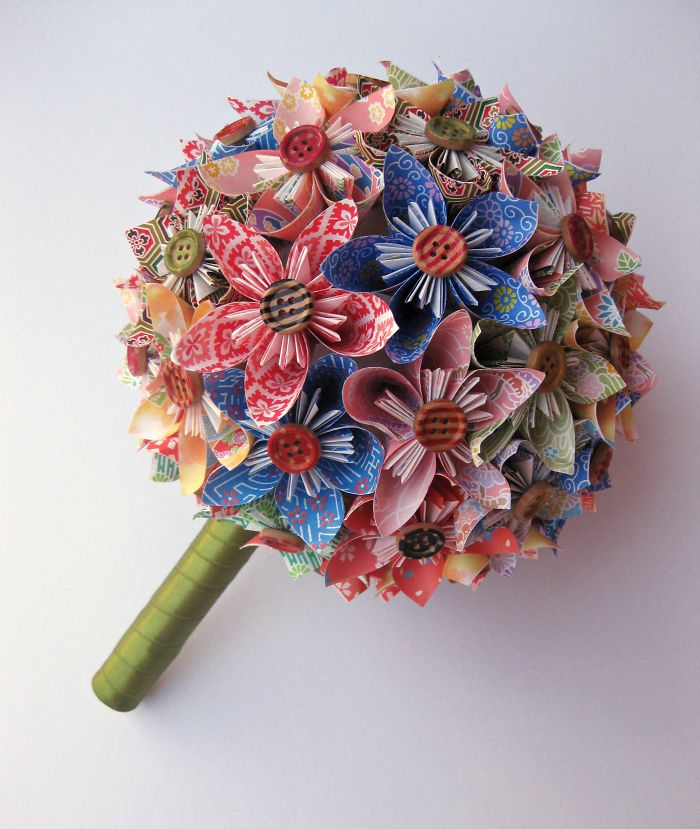 Various Colors Kusudama Paper Bouquet